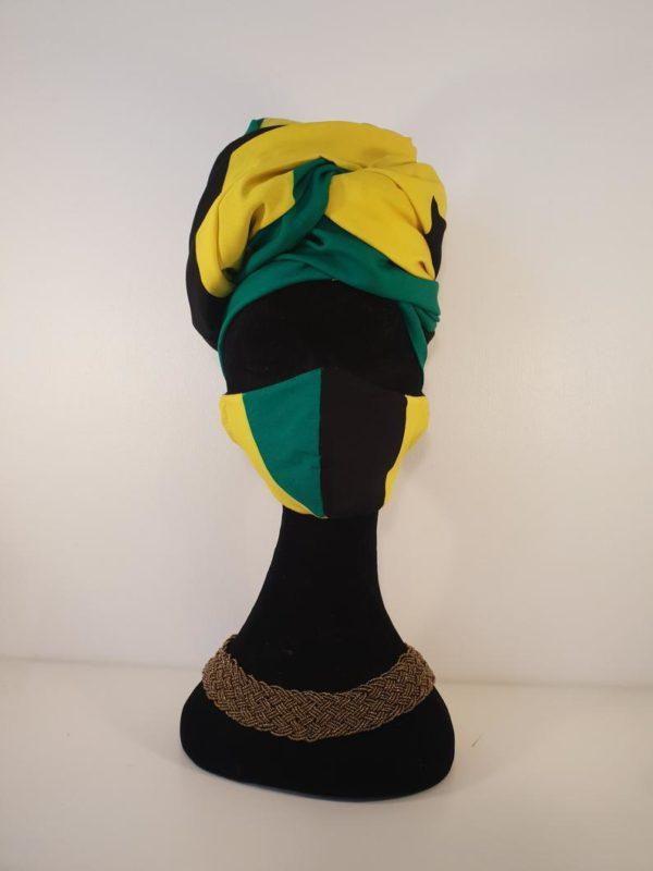 Best Jamaican Flag Head Wrap/Sarong/Shawl/Scarf