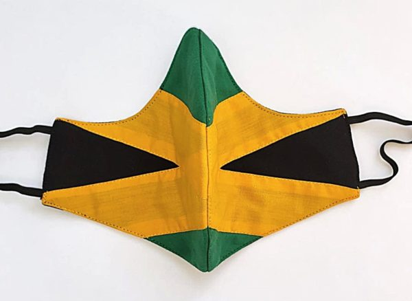 Jamaican colored mask front view